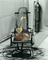 zitrone und schnecke auf stuhl,2013