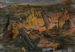 1988,    acryl auf karton,   48x68  cm