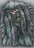 schwarze vögel, 2013, Mischtechnik,70x50