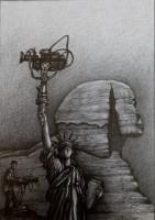 Fanal,  2020,  Bleistift,   30x22 cm
