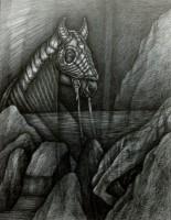Voyeur, 2020, Bleistift, 42x32 cm