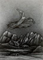 Alpenglühen, 2020, Bleistift, 54x39 cm