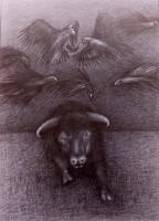 Attake I, 2020, Bleistift, 53x39 cm