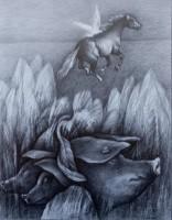 Bodygard II, 2020, Bleistift, 42x33 cm