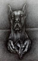 Dogge, 2020, Bleistift, 56x42cm