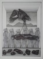 Prozession,  2020, Bleistift, 42x29 cm