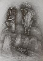 Peace III, 2021, Bleistift, 57x42 cm