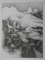 Open Air 2, 2017,Bleistift, 70x50 cm