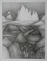 Open Air 1, 2017, Bleistift, 70x50 cm
