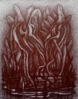 Dschungel, 2020, Kugelschreiber, 28x22cm