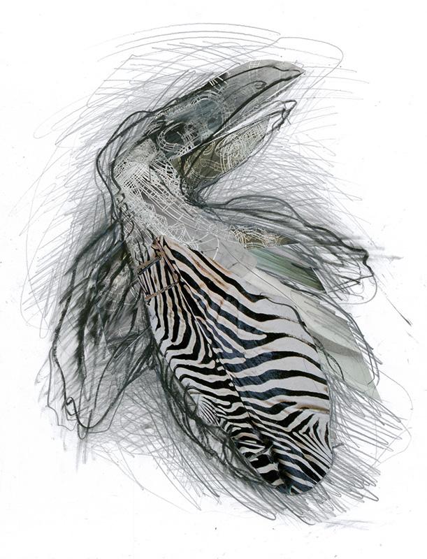 13DEST4419-zebrababy-2013-Zeichnung+Collage-32x245cm-(107)