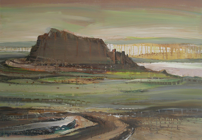 Ohne Titel, 2011, Acryl auf Leinwand 70x100 cm