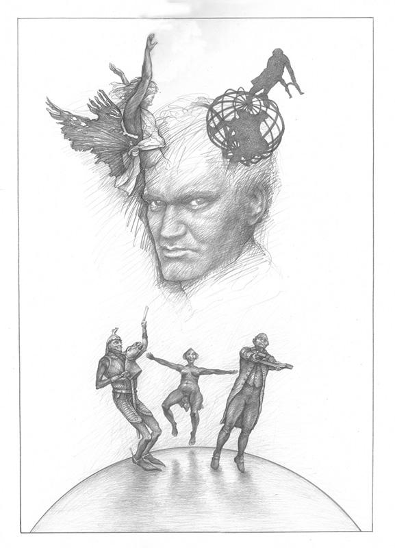 Tarantino-abgelenkt-2013-Zeichnung-60x41,5cm